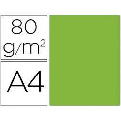 Papel color Liderpapel A4 verde lima gramaje 80g/m2 15 hojas