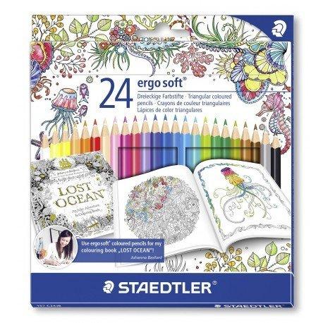 Lapices de colores Staedtler Ergo Soft edición Johanna Basford caja 24 unidades