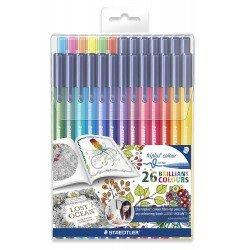 Rotuladores Staedtler Triplus color 323 edición Johanna Basford caja 26 colores