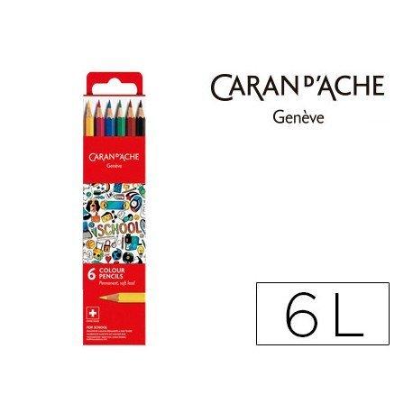 Lapices acuarelable Caran D´ache 6 Colores