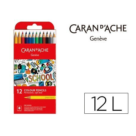 Lapices permanete Caran D´ache 12 Colores FSC