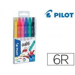 Rotulador Pilot Frixion Colors estuche con 6 colores surtidos