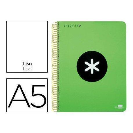 Bloc Antartik A5 Liso tapa Polipropileno 100g/m2 Verde 5 bandas color