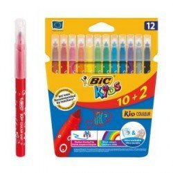 Rotuladores BIC kids Couleur Punta Fina Lavable Pack de 10+2