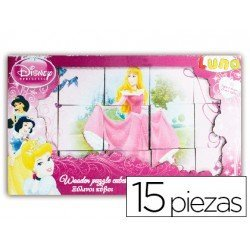 Puzzle copywrite madera cubos princess 185x110 mm