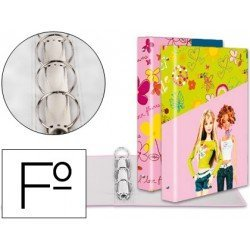 Carpeta anillas A4 fantasia Barbie Liderpapel