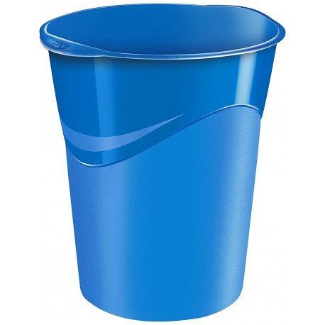 Papelera de plastico Cep Azul de 14 litros