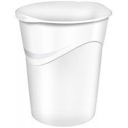 Papelera de plastico Cep Blanca de 14 litros