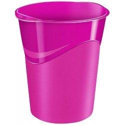 Papelera de plastico Cep Rosa de 14 litros