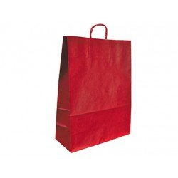 Bolsa Kraft Marca Q-Connect Rojo 240X100X310 mm