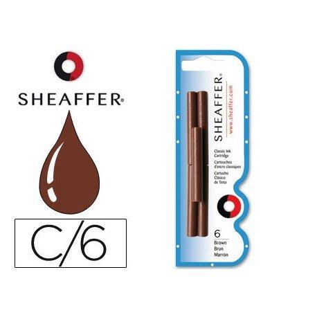 Cartuchos de tinta Sheaffer Classic color marron