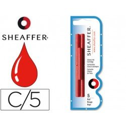 Cartuchos de tinta Sheaffer Classic color rojo