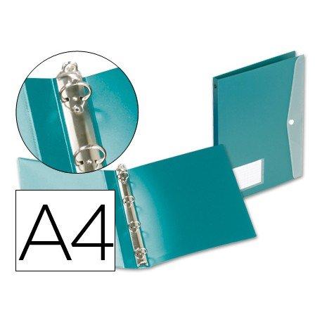 Carpeta de 4 anillas Beautone polipropileno Din A4 verde