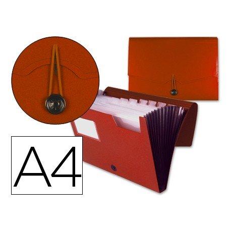 Carpeta clasificadora polipropileno Beautone Din A4 rojo