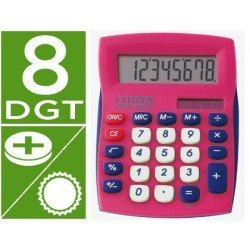 Calculadora sobremesa Citizen SDC-450 rosa 8 digitos