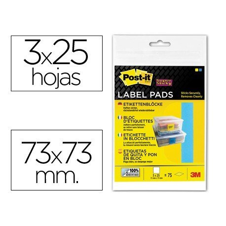 Etiqueta adhesiva Post-it ® Super Sticky Removible