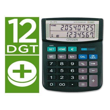 Calculadora Sobremesa Citizen Modelo DL-870 euro 12 digitos