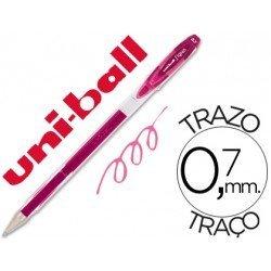 Boligrafo marca Uni-ball UM-120 signo rosa
