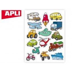 Gomets Apli tematico Transporte adhesivo removible