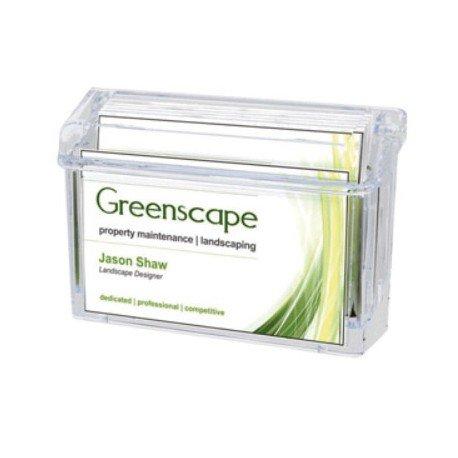 Portatarjetas en plastico transparente