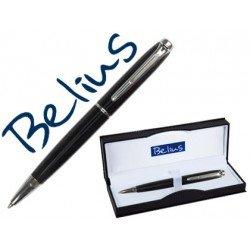 Boligrafo marca Belius Aberdeen lacado negro estuche