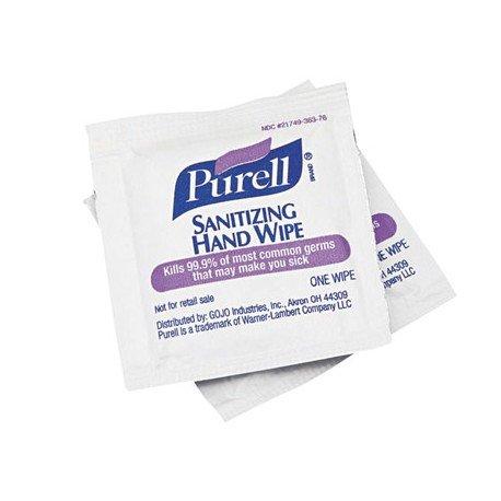 Toallitas desinfectantes marca Purell para manos