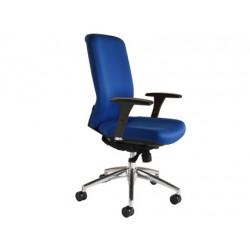Silla de oficina giratoria marca Rocada respaldo alto azul