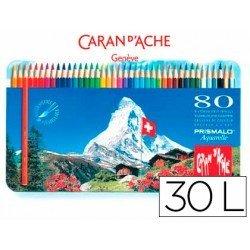 Lapices de Colores Prismalo Acuarelables Caja metalica de 80 colores