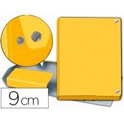Carpeta Pardo para proyectos folio lomo 90 mm Amarillo broche