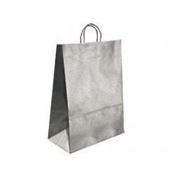 BOLSA KRAFT Q-CONNECT PLATA ASA RETORCIDA 240X100X310 MM