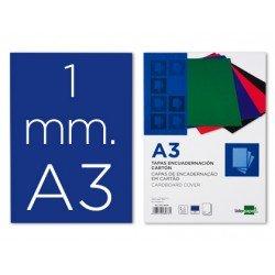 Tapa de Encuadernacion Carton Liderpapel DIN A3 Azul 1mm