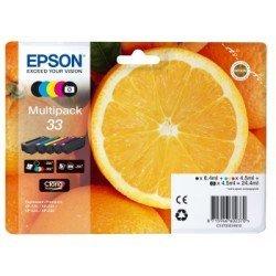 Cartucho Epson Claria 33 T3337 Multipack 4 colores Ref. C13T33374010