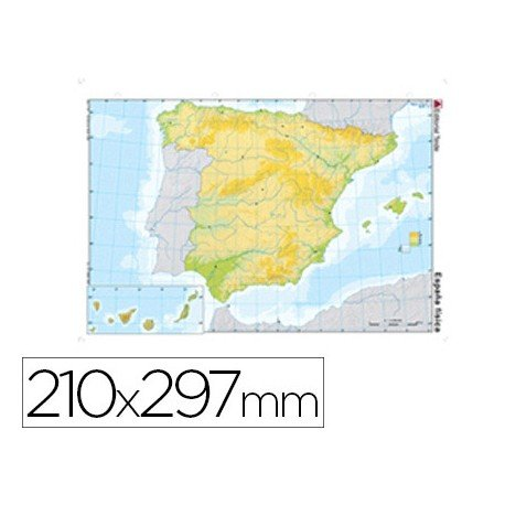 Mapa mudo de España fisico
