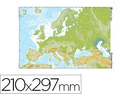 Mapa mudo de Europa fisico 24597  Materialescolares