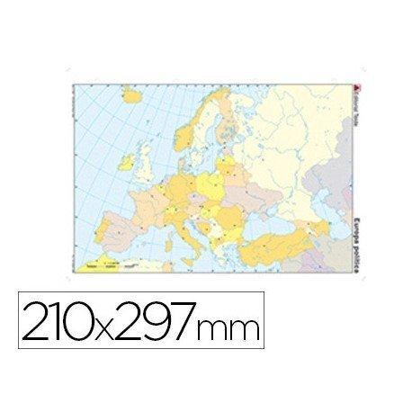 Mapa mudo de Europa politico