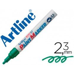 Rotulador Permanente Color Verde Artline EK-400 Punta Redonda 2.3 mm
