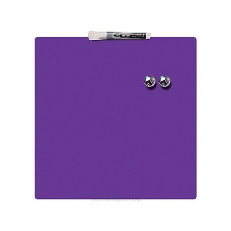 Pizarra Morada Magnetica sin marco 36x36 cm Rexel