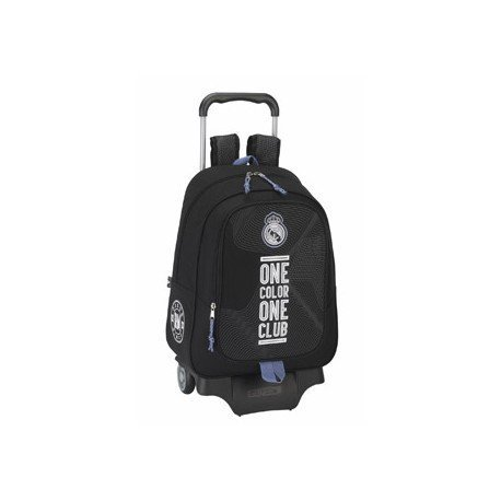 Mochila Escolar Real Madrid Con carro 905 33x15x43 cm Black