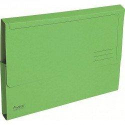 Subcarpeta Cartulina Reciclada DIN A4 Exacompta con bolsa Verde 290 gr