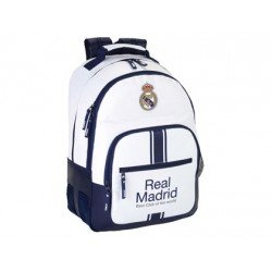 Mochila Escolar Doble Real Madrid Sin Carro 32x15x42 cm 1º equipacion