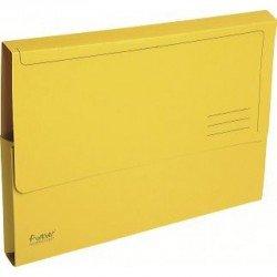 Subcarpeta Cartulina Reciclada DIN A4 Exacompta con bolsa Amarillo 290 gr