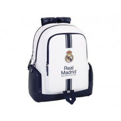 "Mochila Escolar Real Madrid para ordenador portatil 15, 6"" 32x15x43 cm Primera Equipación"