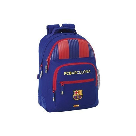 Mochila Escolar Doble F.C. Barcelona Sin Carro 32x15x42 cm 1º equipacion
