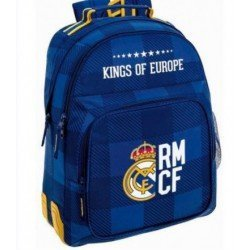 CARTERA ESCOLAR SAFTA REAL MADRID BLUE MOCHILA 320X150X420 MM