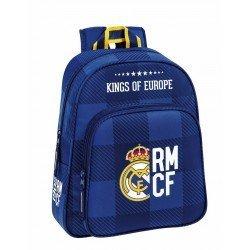 Mochila Infantil Real Madrid Adaptable a Carro 28x10x34 cm Blue