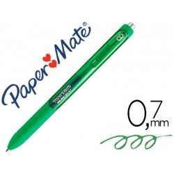 Boligrafo Paper Mate Inkjoy Retractil Gel 0,7 mm Color Verde