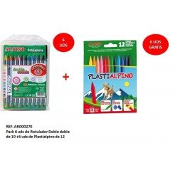 Rotuladores Alpino Doble Punta 10 colores + Lapices plastialpino 12 colores surtidos