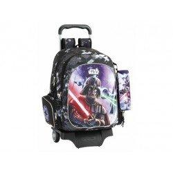 Mochila Escolar Star Wars Con Carro 905 32x18x41 cm Saga