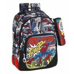 Mochila Escolar Doble Spiderman a Carro 32x15x42 cm Ultimate