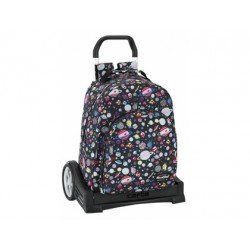 CARTERA ESCOLAR SAFTA CON CARRO BLACKFIT8 PLANETS 330X150X430 MM